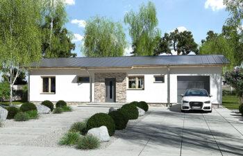 Projekt domu jednorodzinnego Nina 1 Nova D widok front