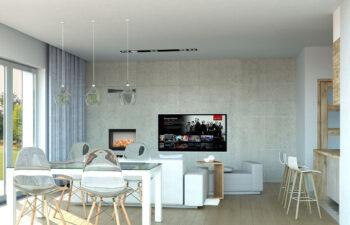 Projekt domu jednorodzinnego Nin 2D salon 2