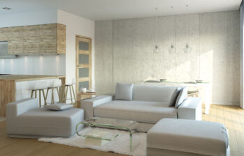 Projekt domu jednorodzinnego Nin 2D salon 3