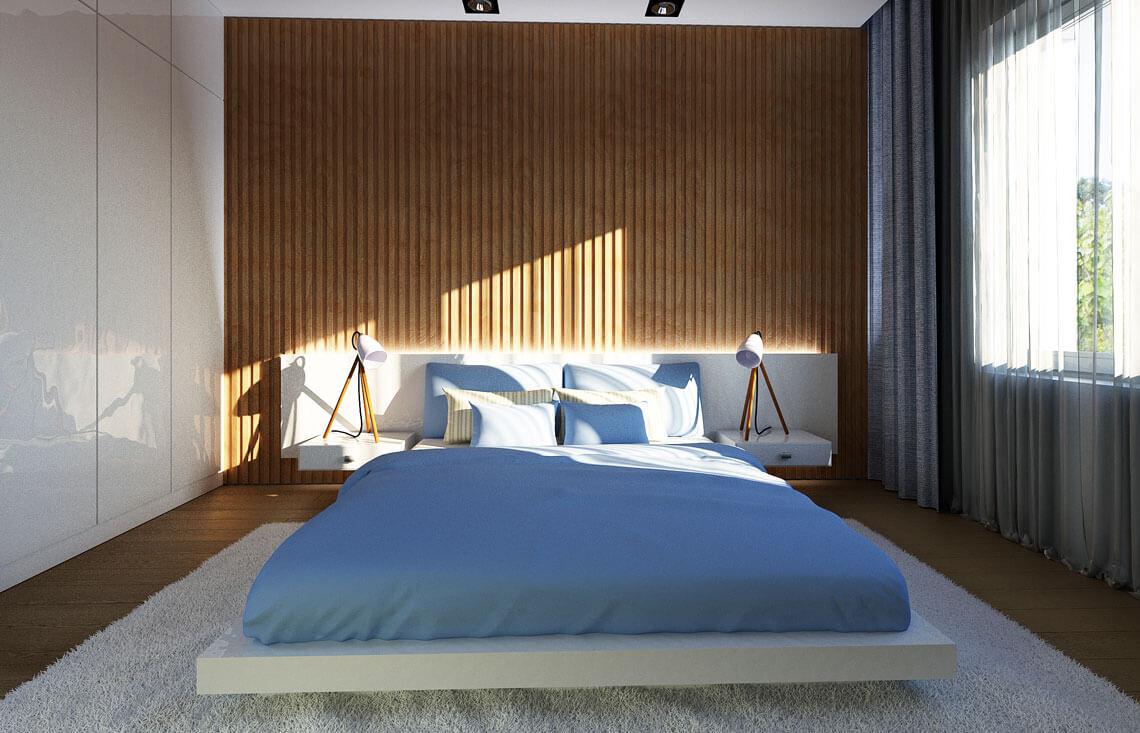 Projekt domu jednorodzinnego Nin 2D sypialnia