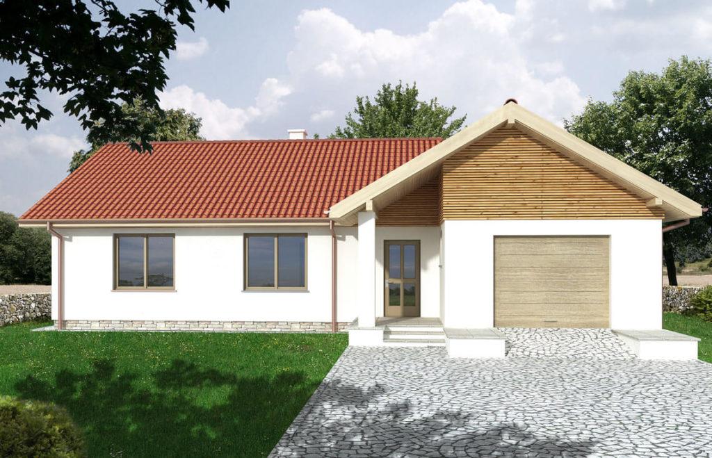 Projekt domu jednorodzinnego Pareo widok front