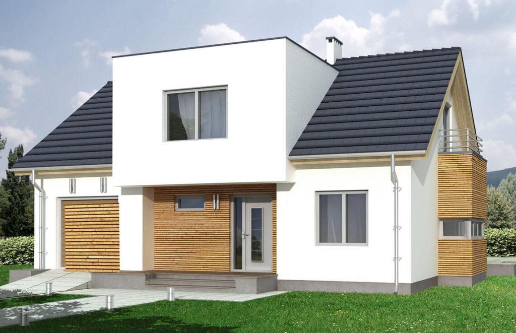 Projekt domu jednorodzinnego Pola 2A widok front