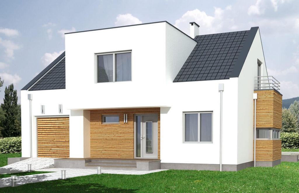 Projekt domu jednorodzinnego Pola widok front
