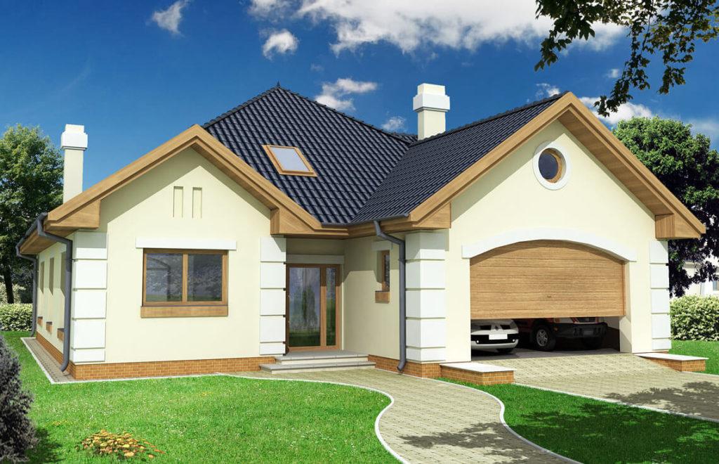 Projekt domu jednorodzinnego Promyk widok front