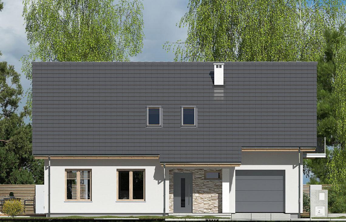 Projekt domu Werbena LUX elewacja front