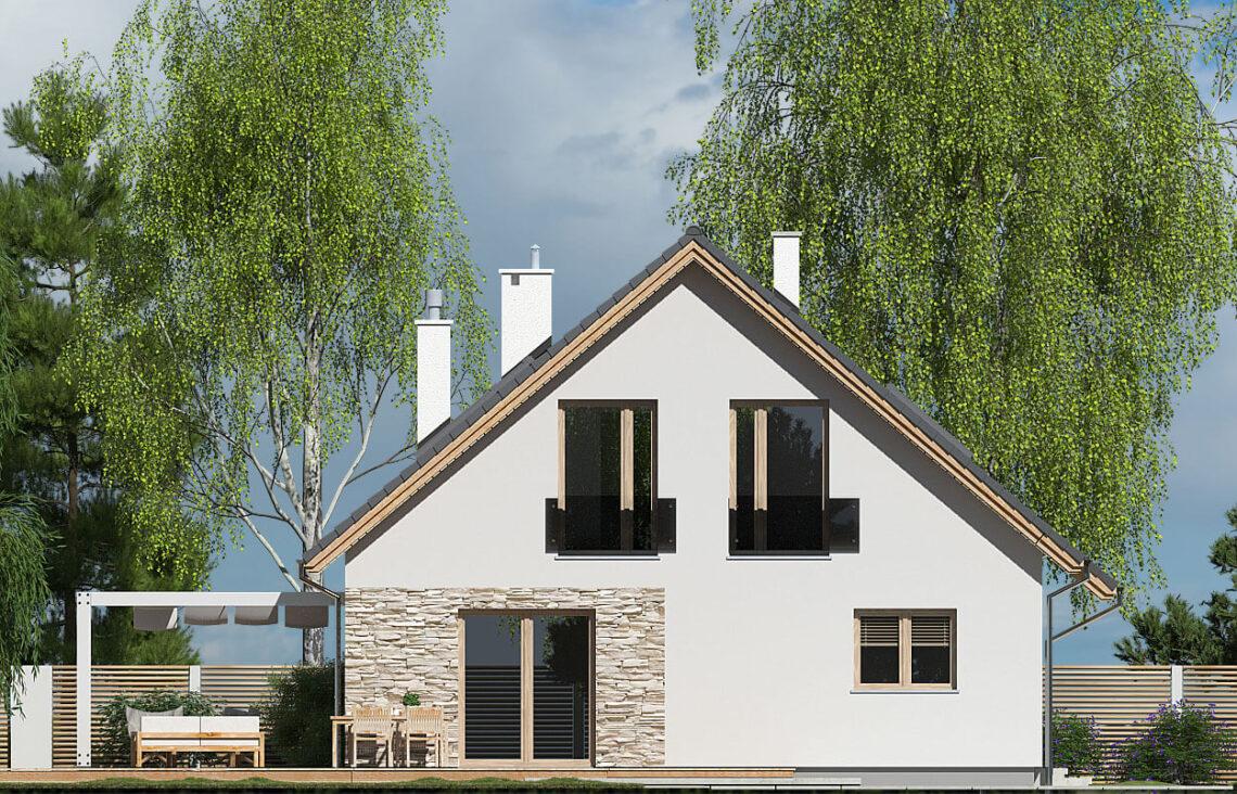 Projekt domu Werbena LUX elewacja lewa