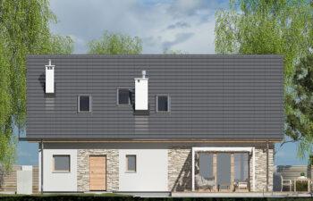 Projekt domu Werbena LUX elewacja ogród