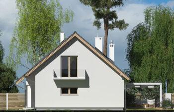 Projekt domu Werbena LUX elewacja prawa