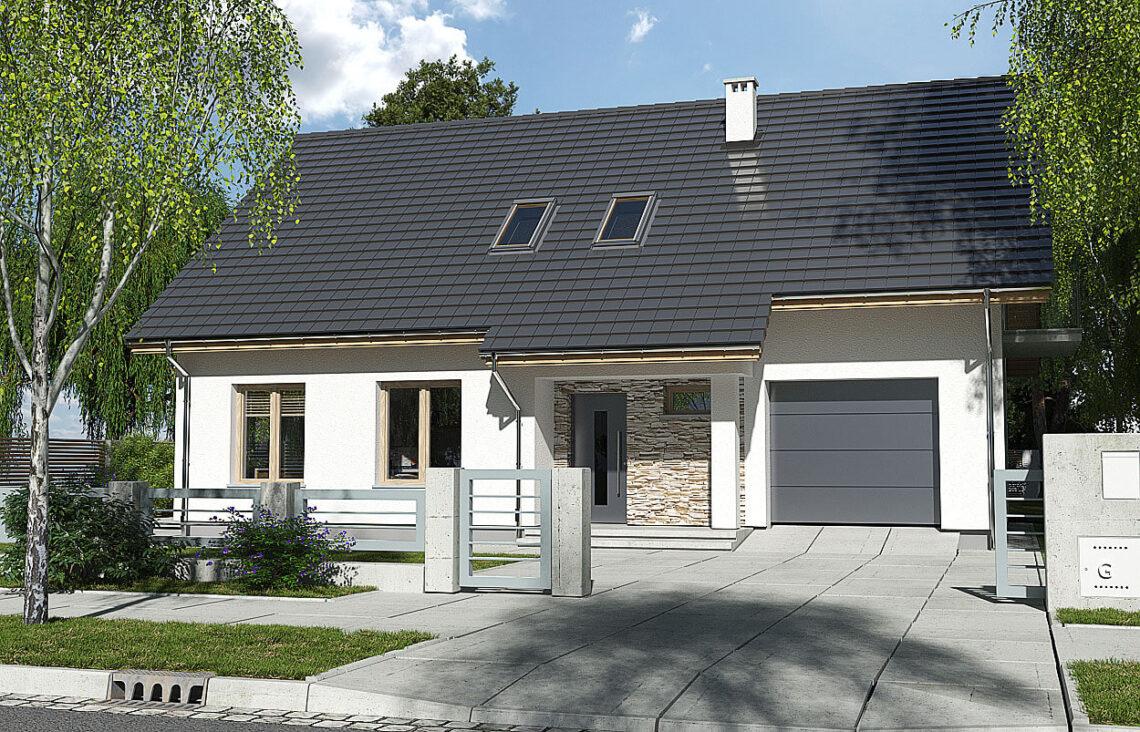Projekt domu Werbena LUX front 2