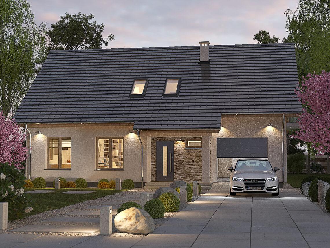 Projekt domu Werbena LUX front 3