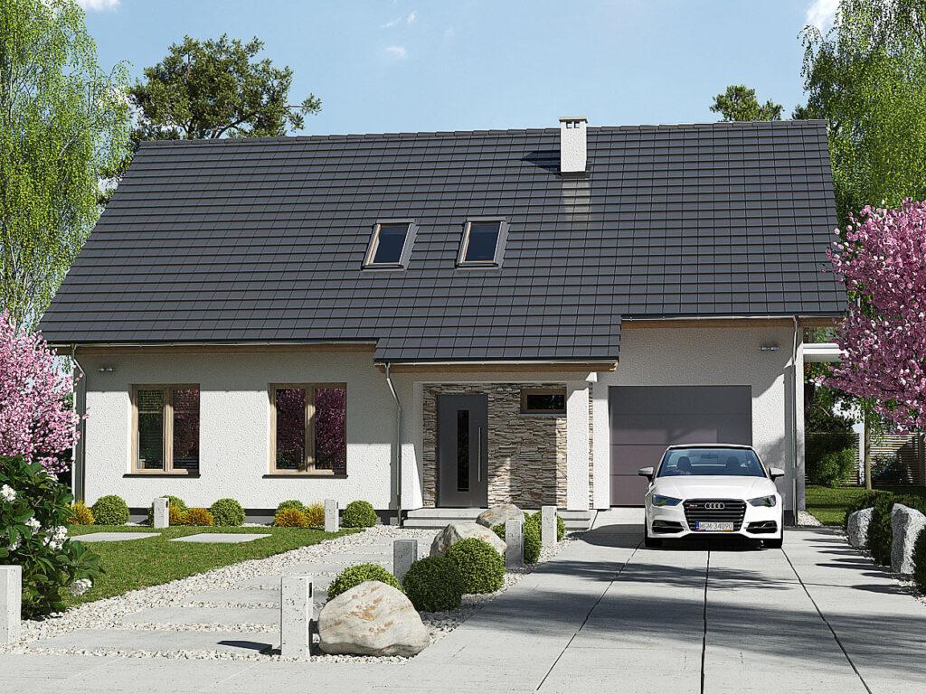 Projekt domu Werbena LUX front 1