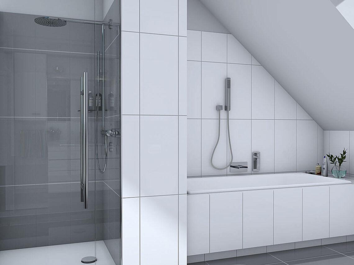 Projekt domu Werbena LUX łazienka poddasze 1