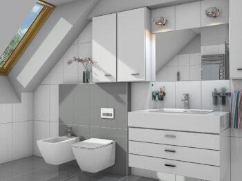 Projekt domu Werbena LUX łazienka poddasze