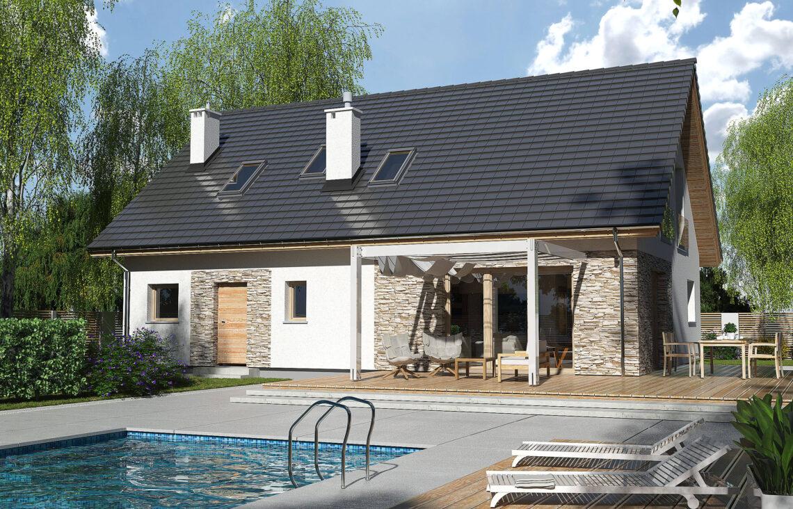 Projekt domu Werbena LUX ogród 1