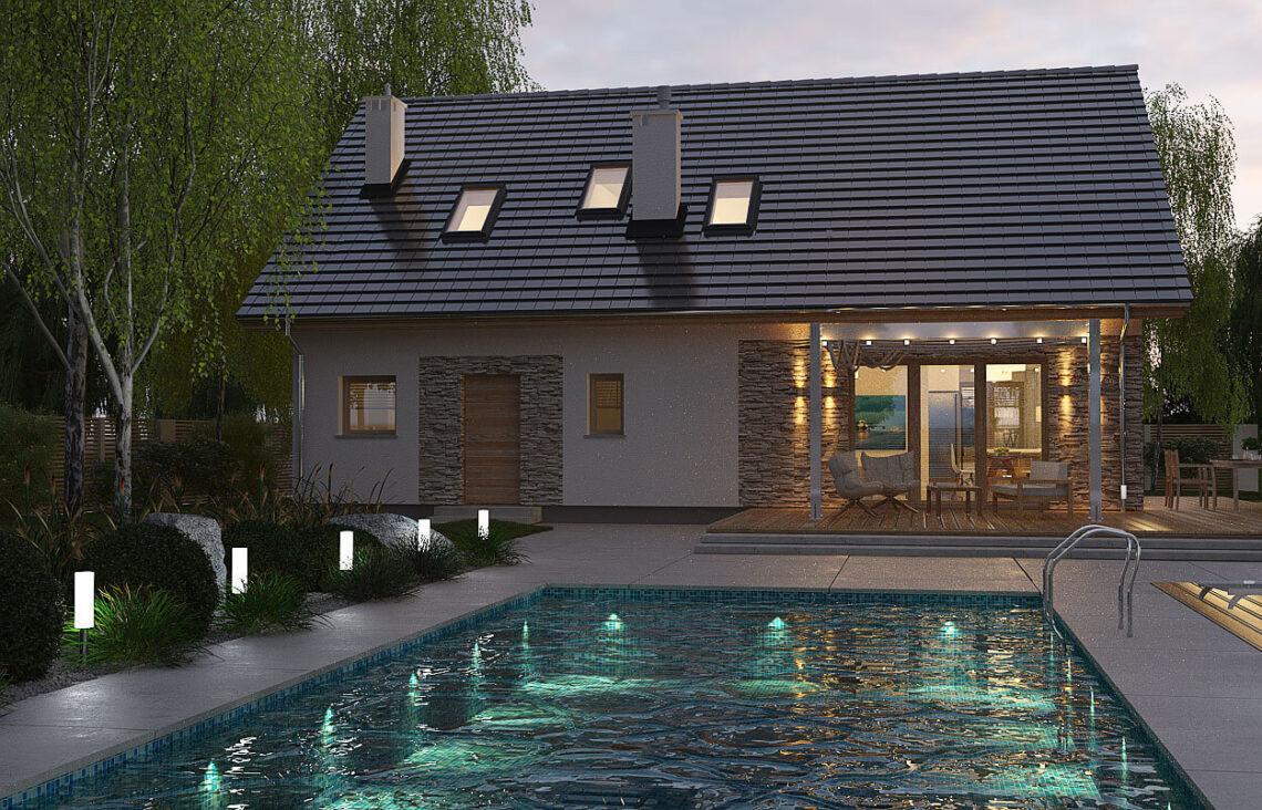 Projekt domu Werbena LUX ogród