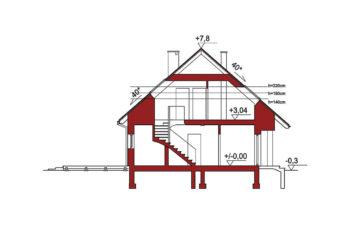 Projekt domu Werbena LUX przekrój