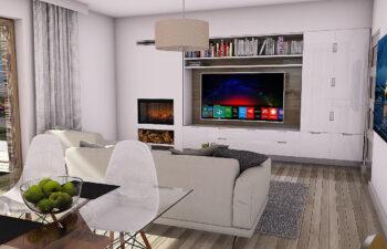 Projekt domu Werbena LUX salon 2