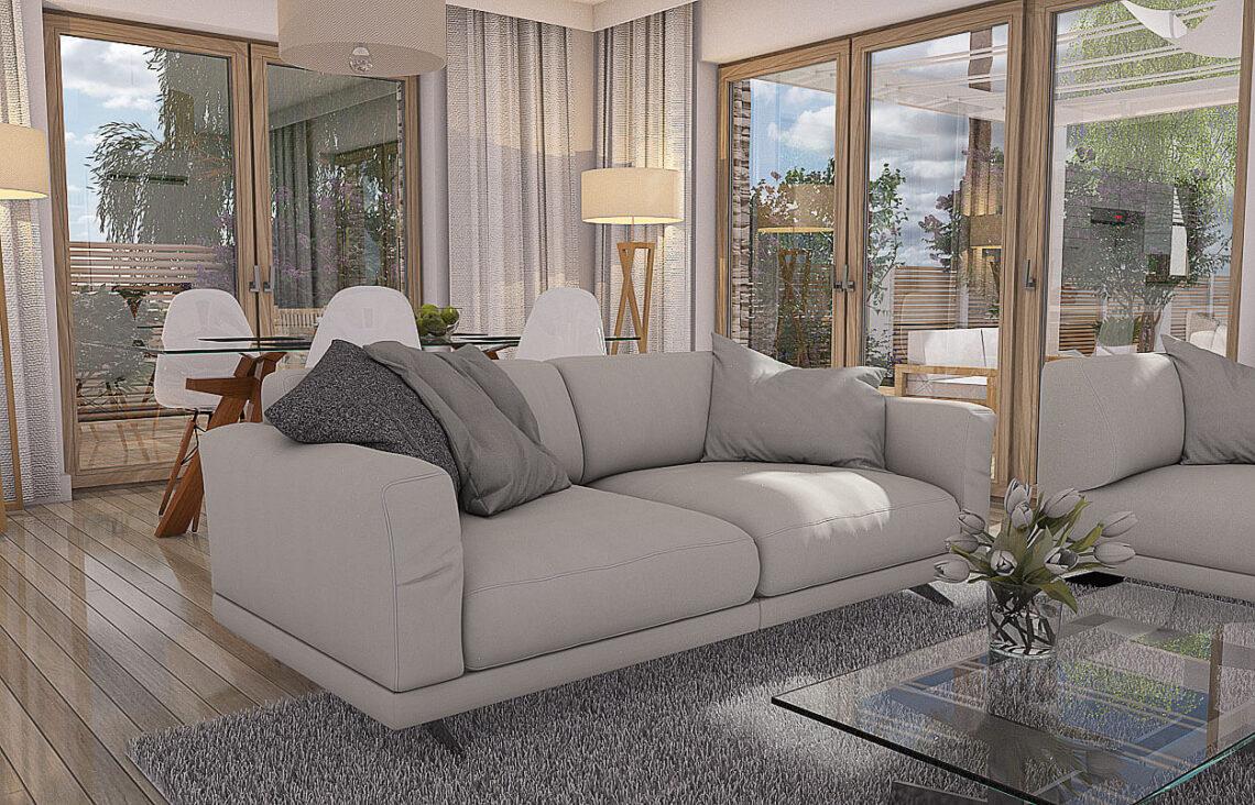 Projekt domu Werbena LUX salon 3
