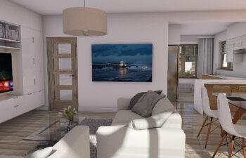 Projekt domu Werbena LUX salon 1