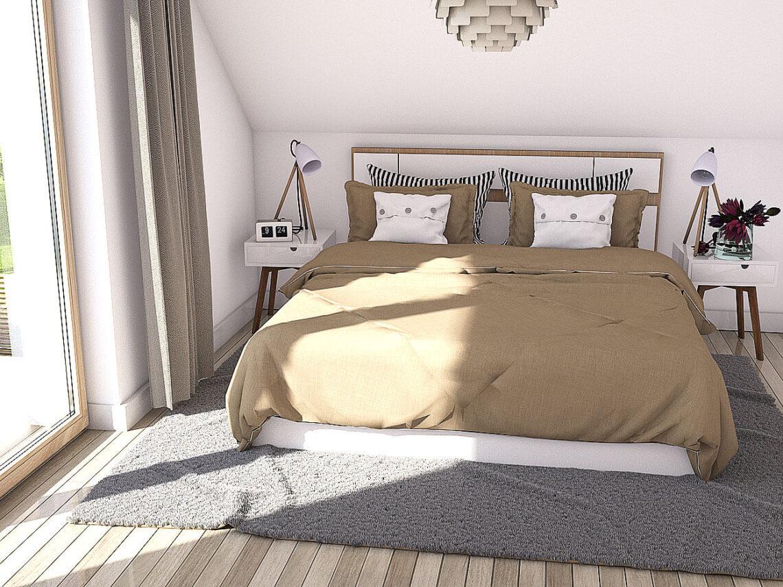 Projekt domu Werbena LUX sypialnia