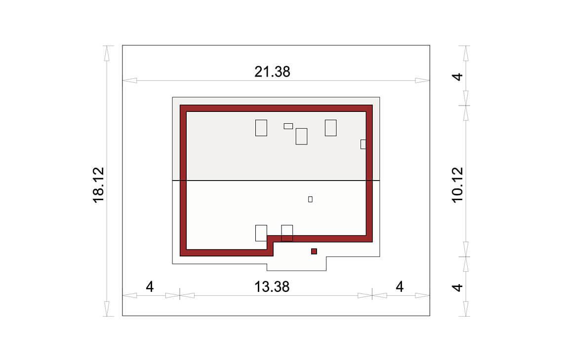 Projekt domu Werbena LUX sytuacja