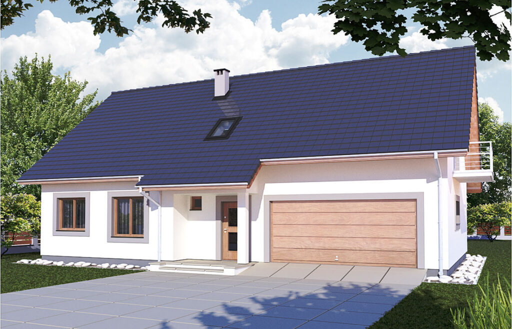 Projekt domu jednorodzinnego Werbena ANova widok front