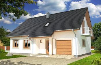 Projekt domu jednorodzinnego Werbena A rzut widok front