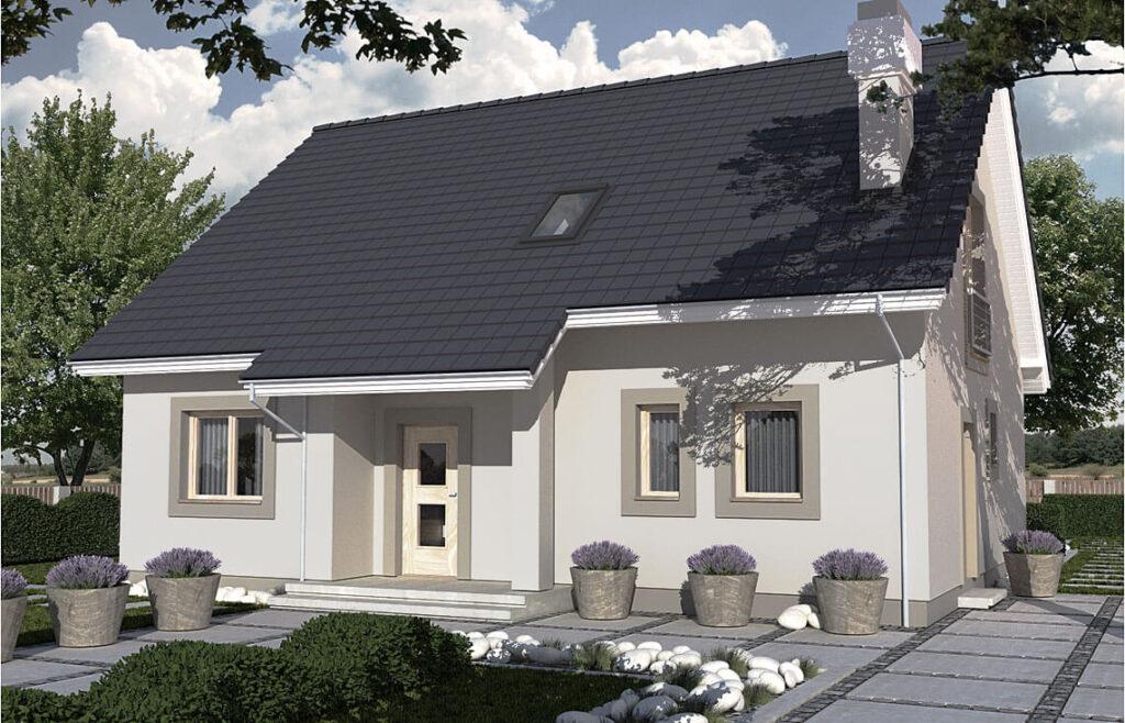 Projekt domu jednorodzinnego Werbi 2A widok front