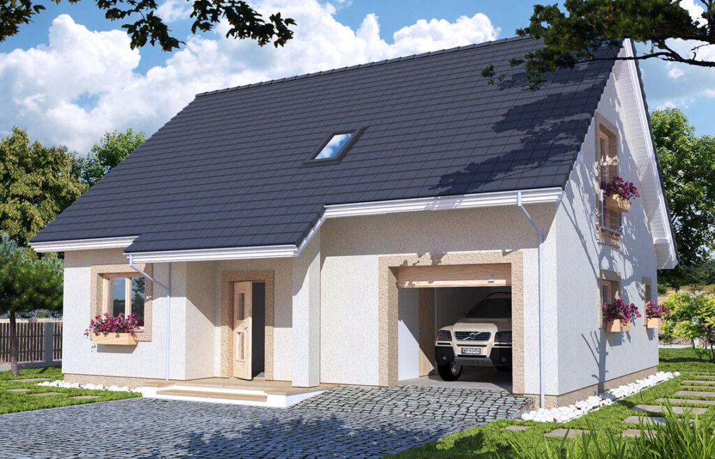 Projekt domu jednorodzinnego Werbi widok front