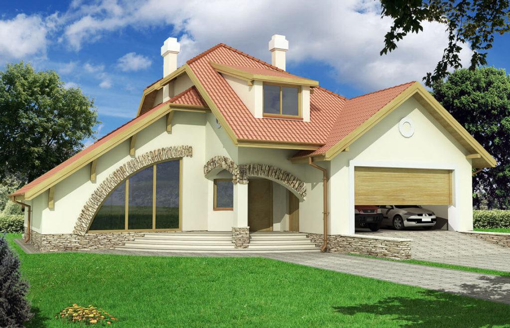 Projekt domu jednorodzinnego Wiera 2A widok front