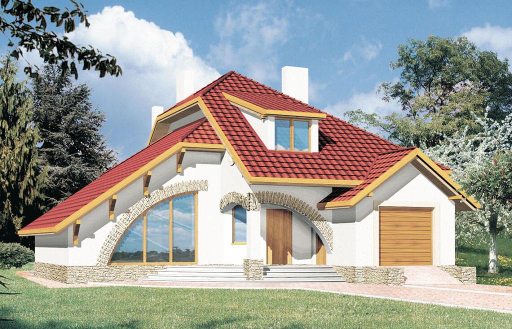Projekt domu jednorodzinnego Wiera Awidok front