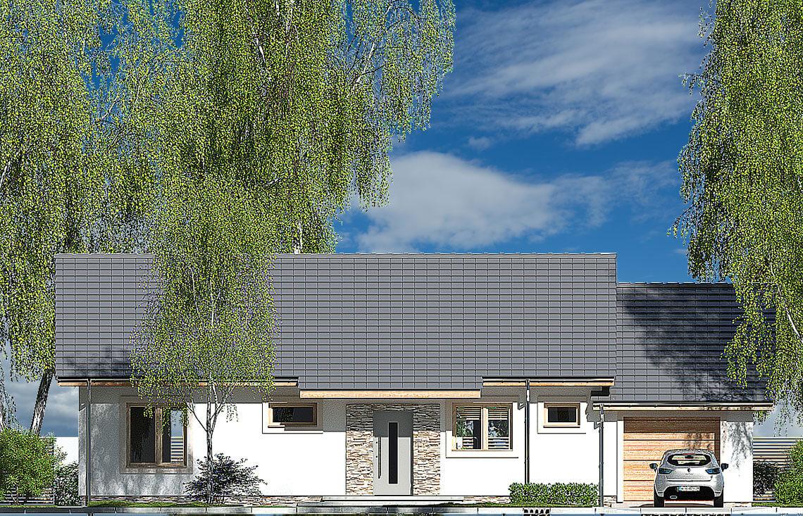 Projekt domu Nina 2 Nova C elewacja front