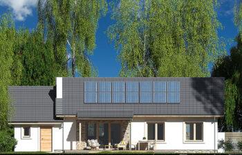 Projekt domu Nina 2 Nova C elewacja ogród