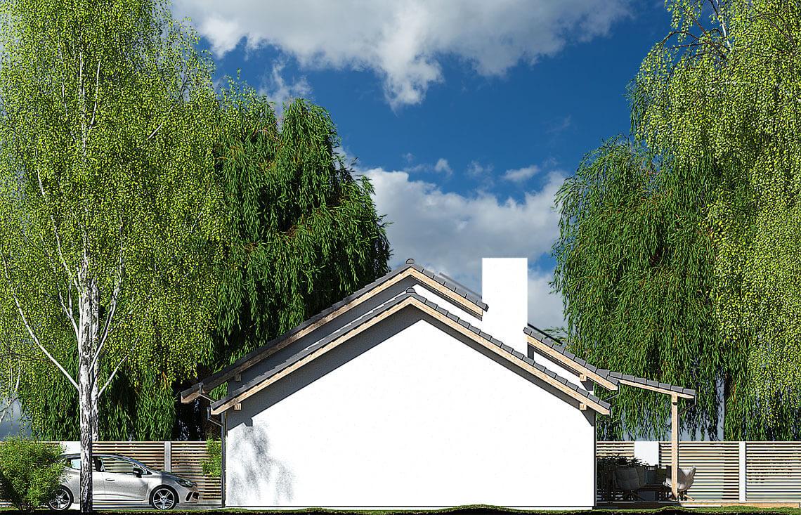 Projekt domu Nina 2 Nova C elewacja prawa