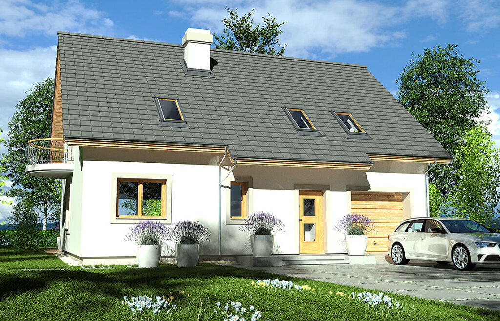 Projekt domu Ewa LUX front