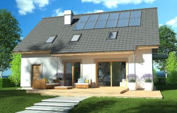 Projekt domu Ewa LUX ogród