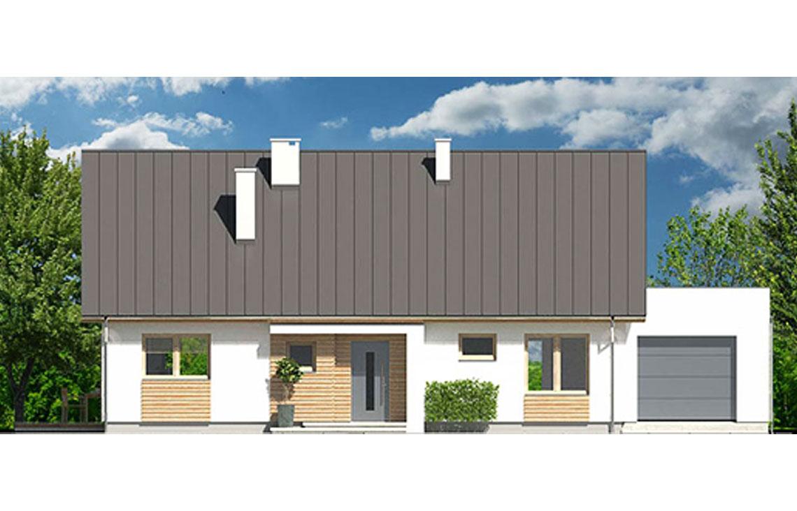 Projekt domu jednorodzinnego Diament A elewacja front
