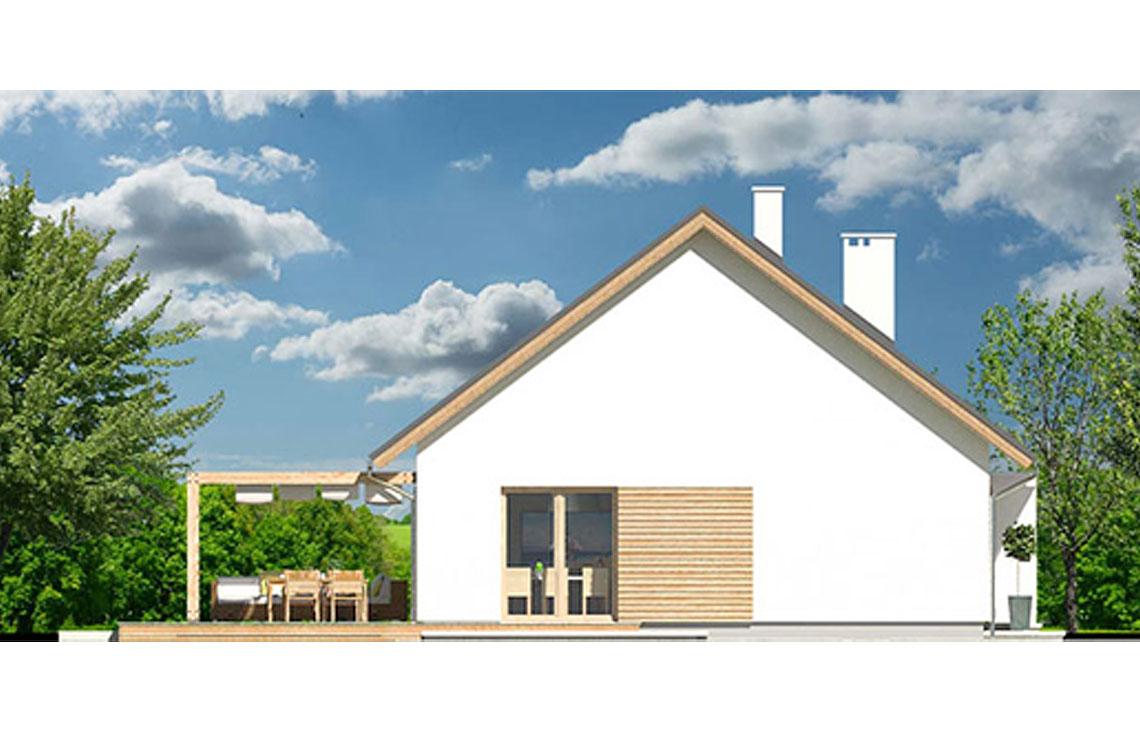 Projekt domu jednorodzinnego Diament A elewacja lewa