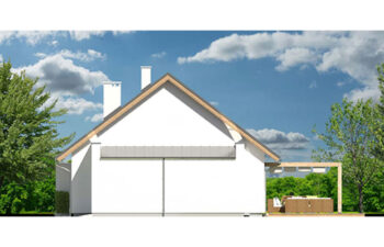 Projekt domu jednorodzinnego Diament A elewacja prawa