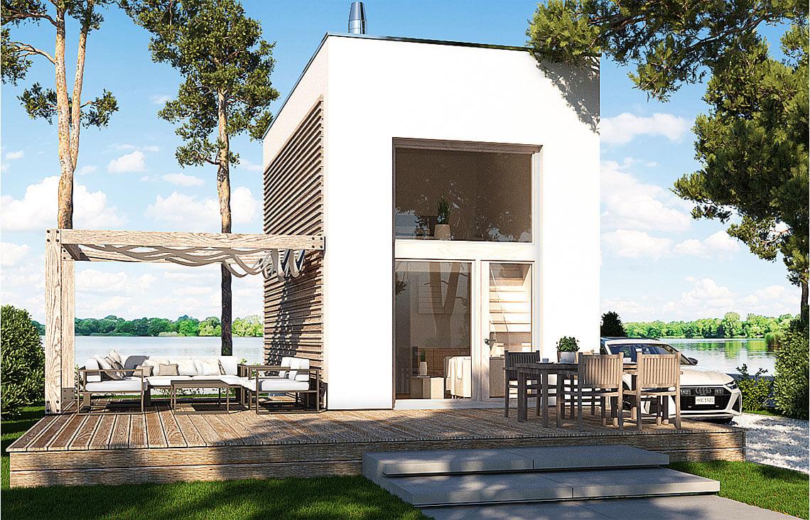 Projekt domu jednorodzinnego Laba Awidok front 1