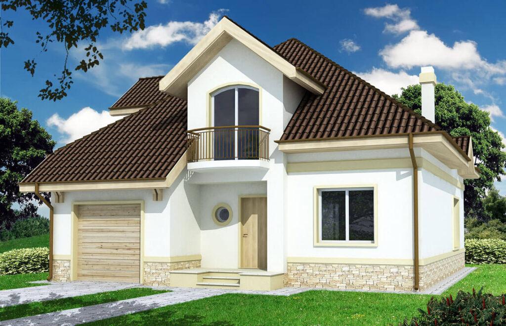 Projekt domu jednorodzinnego Agio Awidok front