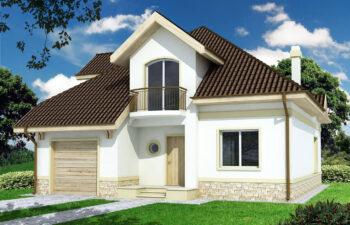 Projekt domu jednorodzinnego Agio A widok front