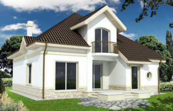 Projekt domu jednorodzinnego Agio A widok ogród