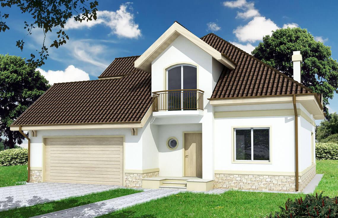Projekt domu jednorodzinnego Agio B widok front