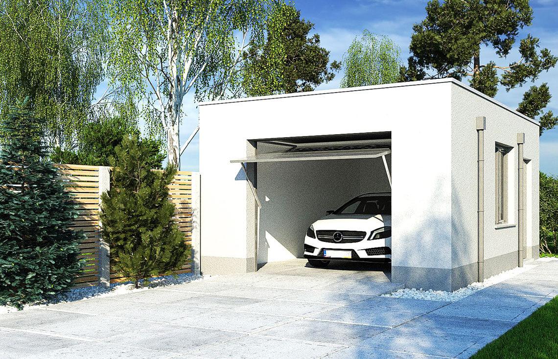 Projekt garażu wolnostojącego APG 10A widok front