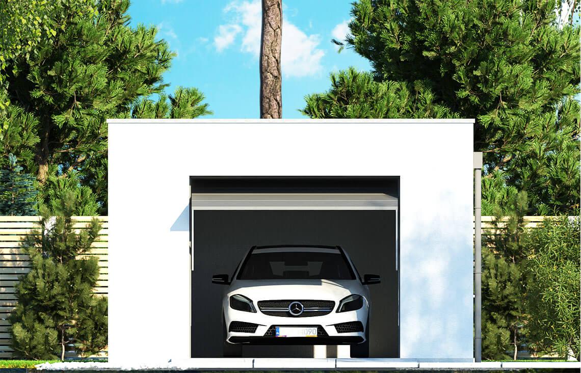 Projekt garażu wolnostojącego APG 10A elewacja front