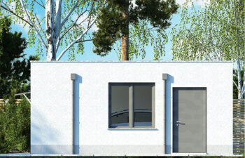 Projekt garażu wolnostojącego APG 10A elewacja prawa
