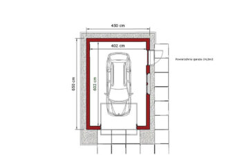 Projekt garażu wolnostojącego APG 10A rzut