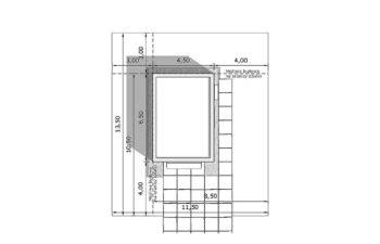 Projekt garażu wolnostojącego APG 10A sytuacja