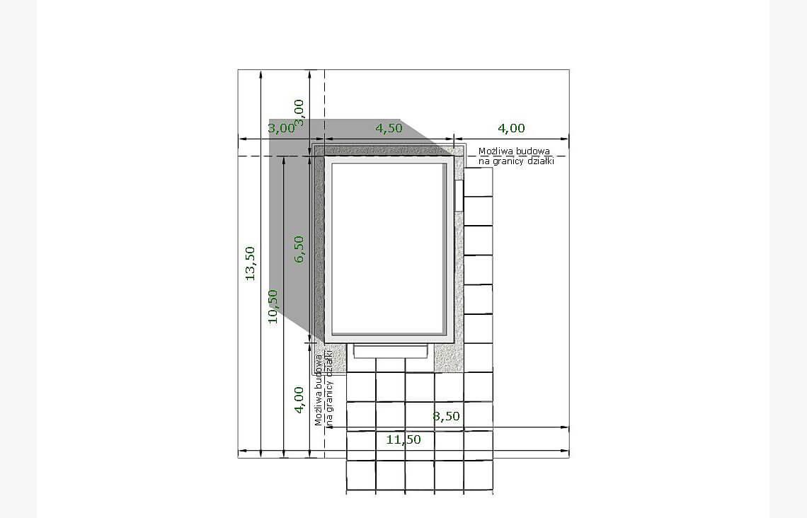 Projekt garażu, budynku gospodarczego APG 10A sytuacja